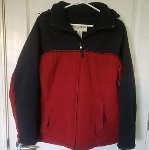 Eddie Bauer Womans Parka Black/Red Size M